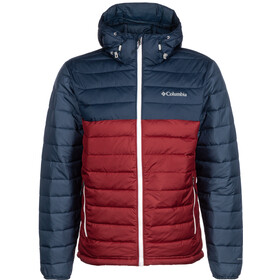 Columbia Powder Lite Hooded Jacket Men red jasper/collegiate navy